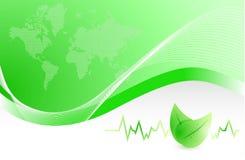 Lifeline and been leaves illustration design Stock Photo
