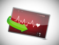 Lifeline in an electrocardiogram Royalty Free Stock Photography