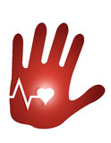 lifeline hand illustration design Stock Images