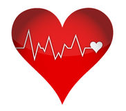 Lifeline heart Royalty Free Stock Image
