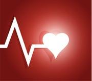 Lifeline and heart. illustration design Royalty Free Stock Photos