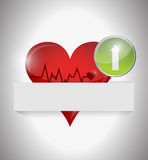 Lifeline heart illustration design Stock Image