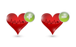 Lifeline hearts illustration design Royalty Free Stock Images