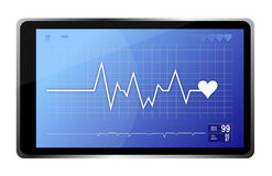 Lifeline monitor and computer tablet Royalty Free Stock Image