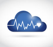 Lifeline over a cloud. illustration design Stock Image