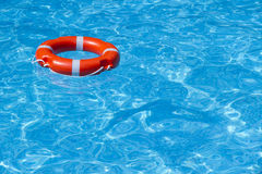 A lifeline in the pool 1. A buoy on the water in the pool is located in the upper left corner Stock Photography