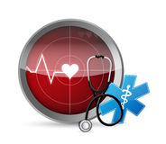 Lifeline Stethoscope radar illustration design Stock Images