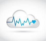 Lifeline white cloud illustration design Royalty Free Stock Image