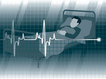 Lifeline3. A lifeline in an electrocardiogram and a patient Stock Photos
