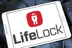 LifeLock-Firmenlogo stockbilder