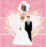 Lifelong love. Happy wedding couple - lifelong love, illustration vector illustration