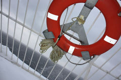 Lifering on the ferry board. Stock Image