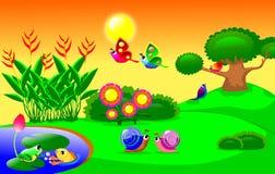 Lifes в саде бесплатная иллюстрация