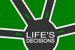 Life's decisions Stock Photography