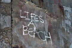 Lifes uma praia Fotos de Stock Royalty Free