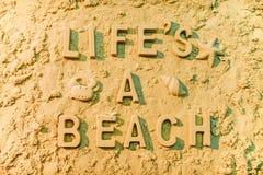 Lifes une plage Photos libres de droits
