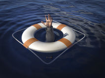 Lifesaver stock illustratie