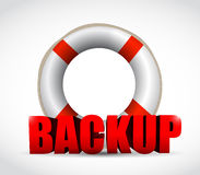 Lifesaver backup sign illustration design Stock Photo
