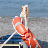 Lifesaver on the beach. Summer Royalty Free Stock Photo