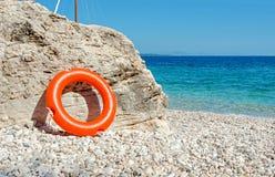 Lifesaver on the beach. Sun lights summer lifesaver on the beach Royalty Free Stock Photos