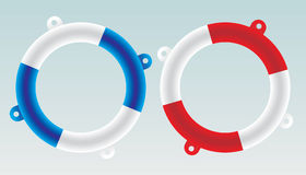 Lifesaver boat - vector Royalty Free Stock Photos