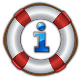 Lifesaver floating Royalty Free Stock Photography