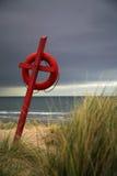 Lifesaver op het strand Stock Afbeelding