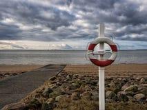 Lifesaver på en strand Arkivfoto