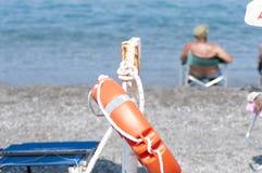 Lifesaver på stranden Arkivfoton