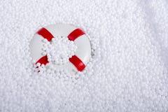 lifesaver på vita bollar för polystyrenskum Arkivfoto