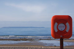 Lifesaver on the shore Royalty Free Stock Images