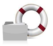 Lifesaver sos folder illustration design Stock Photos