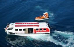 Lifesaving operation at sea Stock Photo