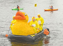 Lifescan Duck me team on the river Ness. Royalty Free Stock Photo