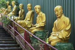 Lifesize статуи Будды, 10 тысяч монастырь Buddhas, Hong Ko Стоковые Изображения