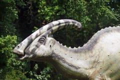 Lifesize reconstruction of a dinosaur (Parasaurolophus walkeri) Royalty Free Stock Images