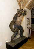 Lifesize statue of a Werewolf Royalty Free Stock Image