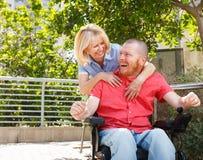 Lifestile van de echte gehandicapte mens Royalty-vrije Stock Afbeelding