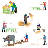 Lifestyle of agriculturist. At countryside  design Royalty Free Stock Photos
