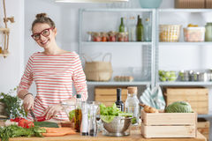 Free Lifestyle Blogger During Cooking Royalty Free Stock Images - 96937039