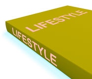 Lifestyle Book Shows Books About Life Choices Royalty Free Stock Photography