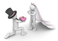 Lifestyle - Bride and bridegroom with rings Royalty Free Stock Photo