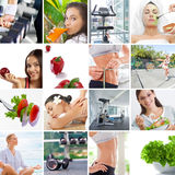 Lifestyle collage Stock Photography