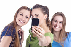 Lifestyle Concept and Ideas. Three Beautiful Caucasian Ladies Ta Stock Photography