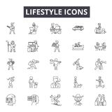 Lifestyle concept line icons, signs, vector set, linear concept, outline illustration royalty free illustration