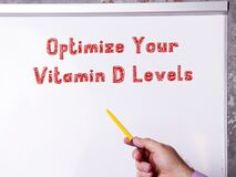 Lifestyle concept about Optimize Your Vitamin D Levels with inscription on the page