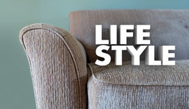 Lifestyle Couch Home Leisure Fashion Word Stock Image