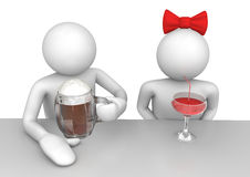Lifestyle - Couple in the bar Royalty Free Stock Photos