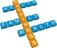 Lifestyle crossword Stock Image