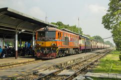 Lifestyle of diverse people travel with Rail transport. BANGKOK, THAILAND - 1 Feb 2018 : Lifestyle of people passenger travel with Rail transport on evening Royalty Free Stock Images